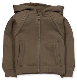 Name It Bruingroene meisjes hoodie vest met rits