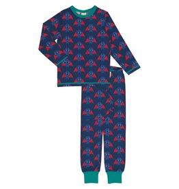 Maxomorra Pyjama met schattige vleermuizen print