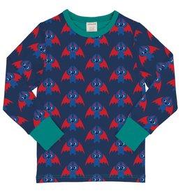Maxomorra T-shirt lange mouwen met vleermuizen print
