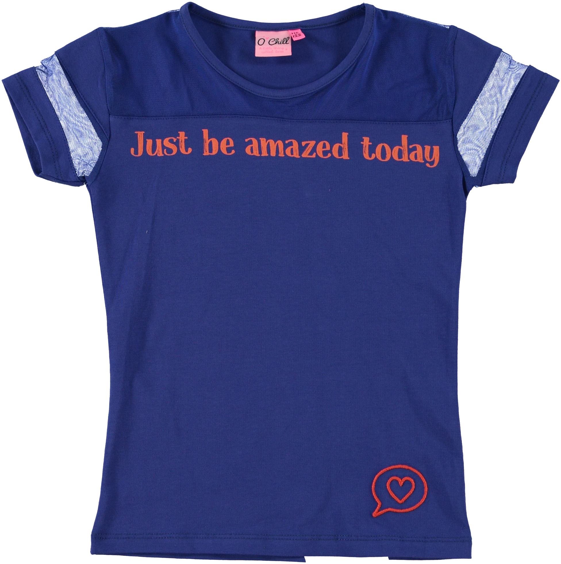 O-Chill Meisjes Shirt Dylana Blue-1