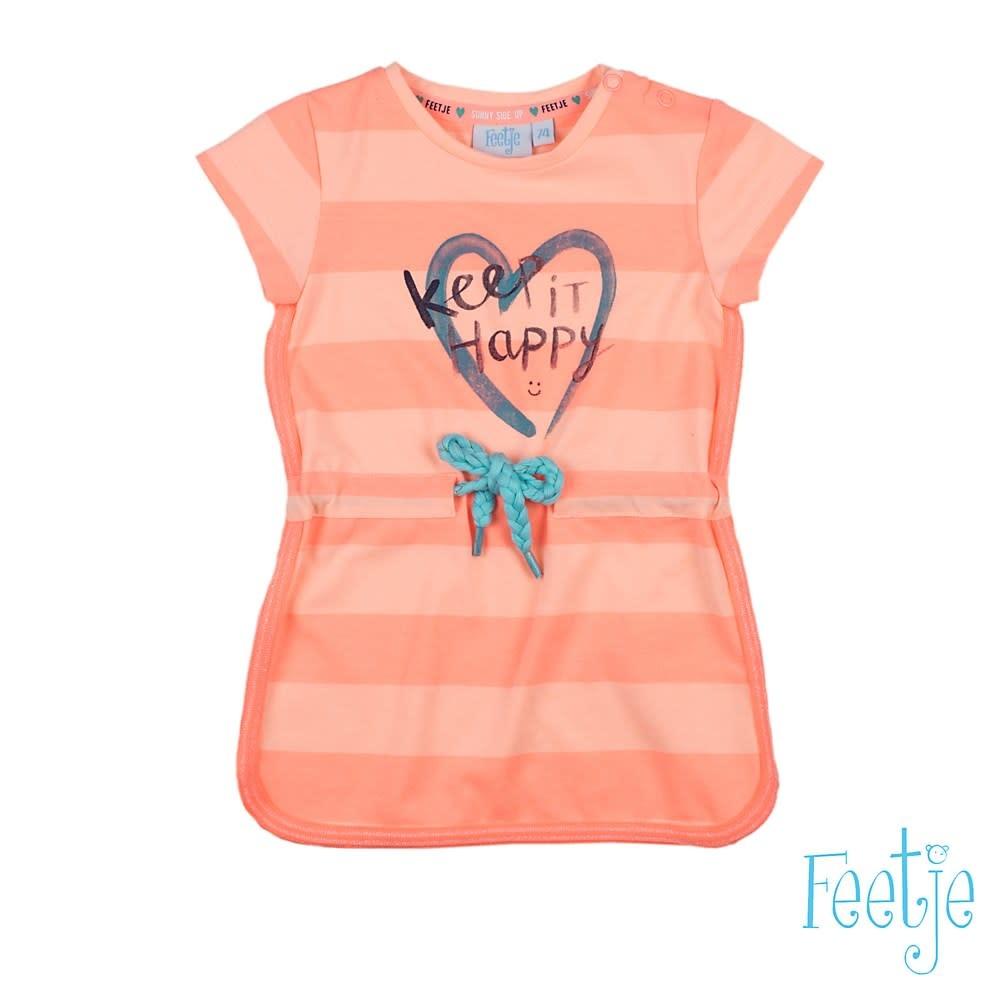 Feetje Meisjes Jurkje Keep It Happy Botanic Blush 51400323-1