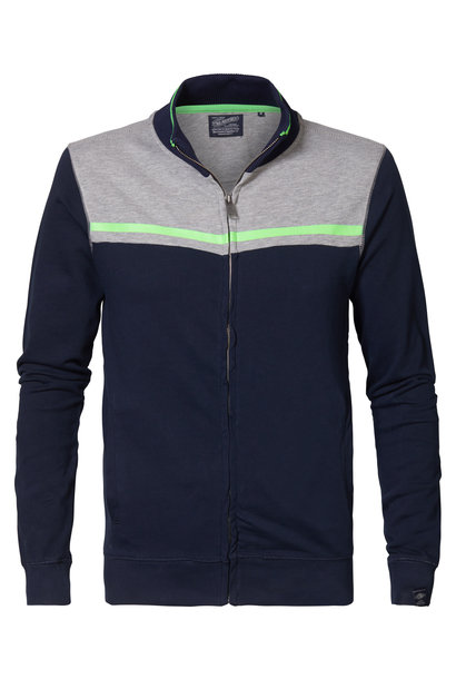 Petrol Heren Sweatvest M-1000-SWC361 Deep Navy