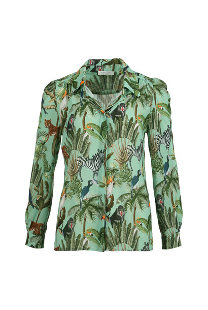 Enjoy Dames Blouse Tropisch 126247