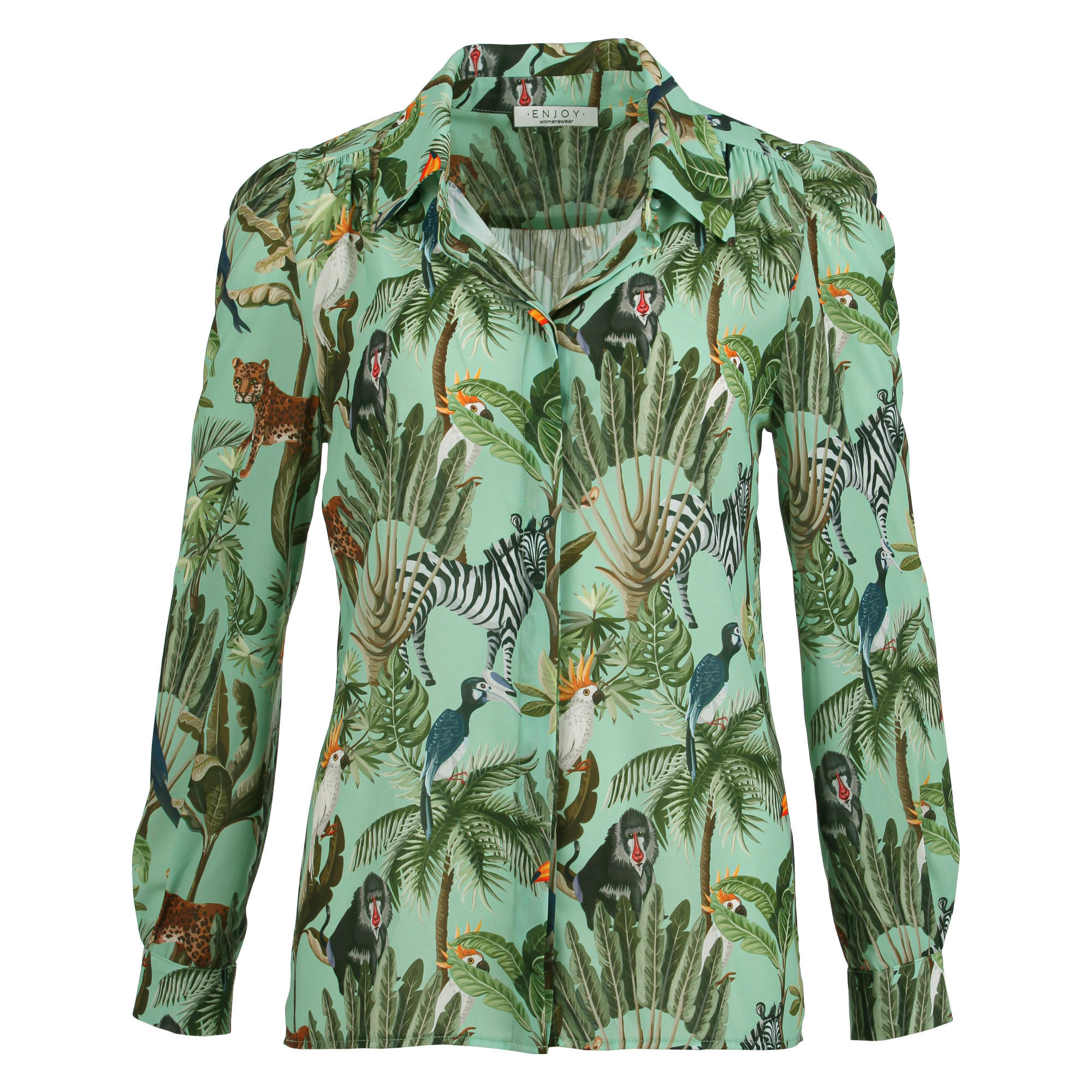 Enjoy Dames Blouse Tropisch 126247-1