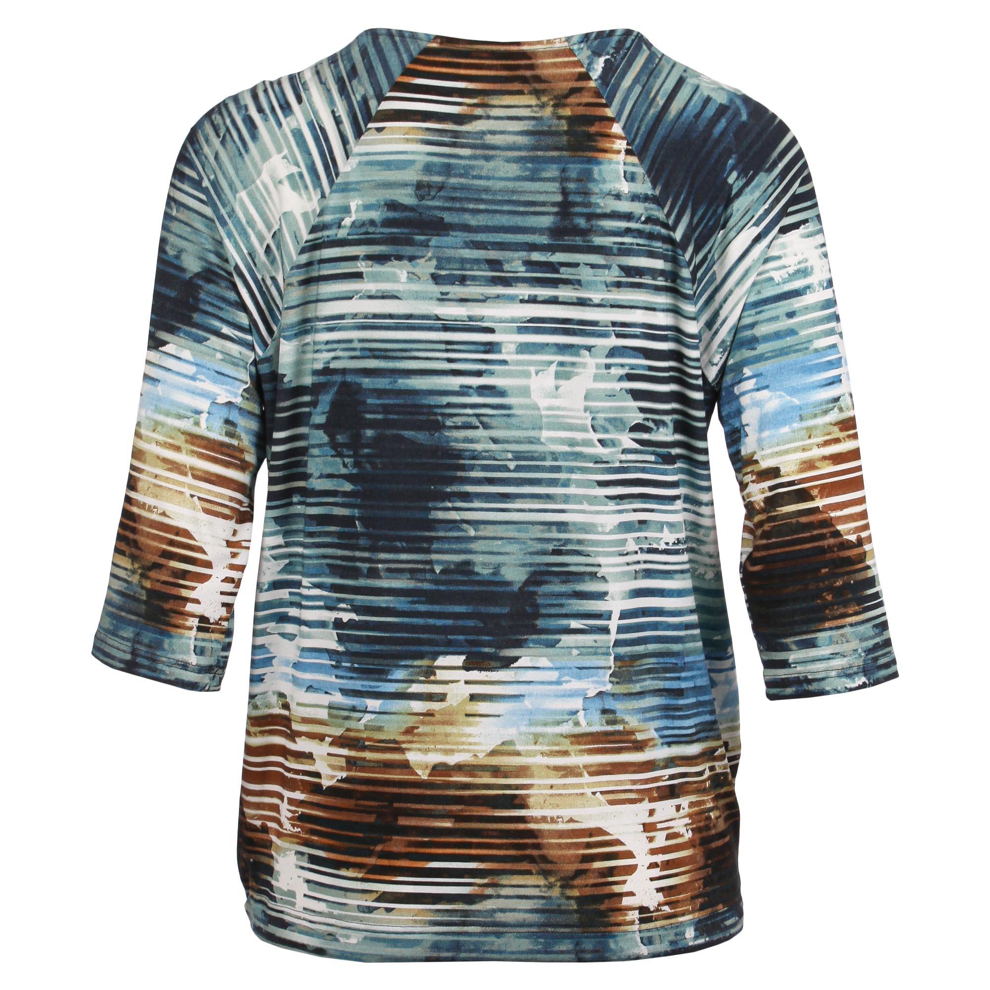 Enjoy Dames Shirt 3/4 Mouw Batik Strepen 880057-2