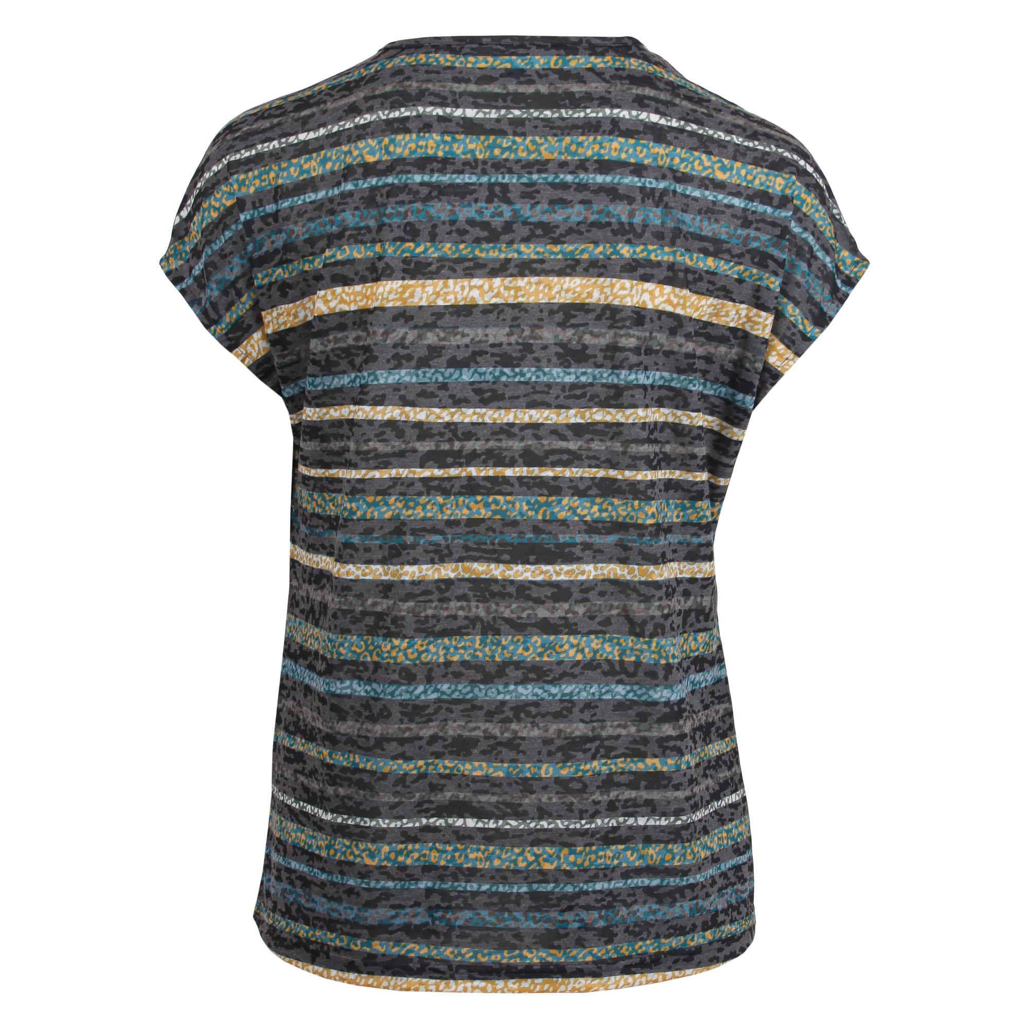 Enjoy Dames Shirt Devore Strepen Bladeren 168699-2