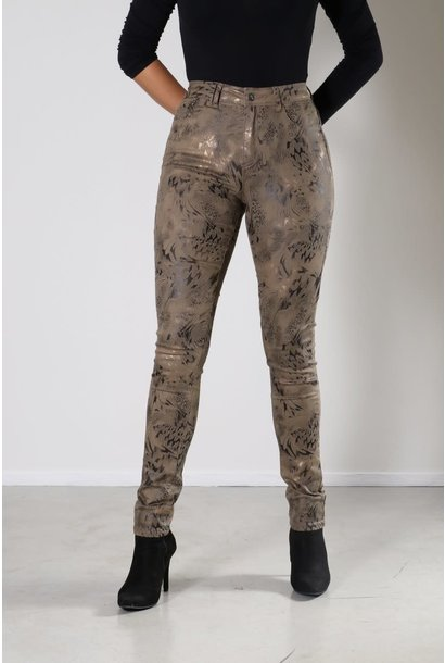 New Star Dames Broek Slim Fit Foil Print 0206 MAINE