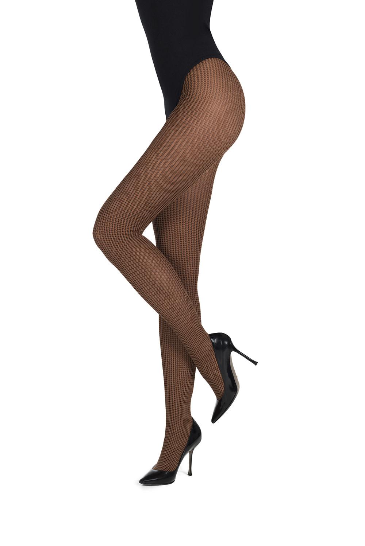 MarcMarcs Dames Panty Small Pied De Poule 87384-1