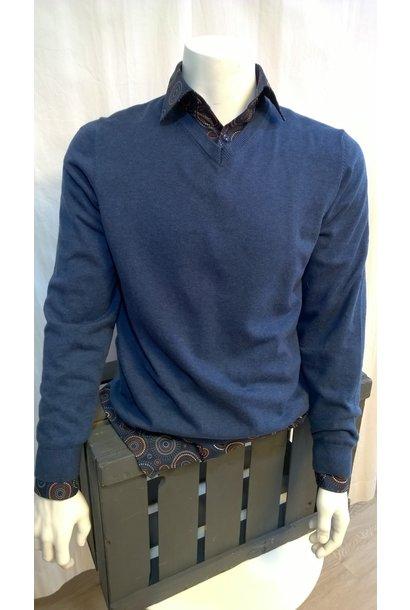 MarVelis Heren Pullover V-Hals 1990