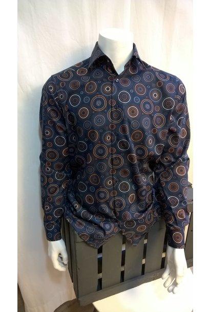 MarVelis Heren Overhemd Met Lange Mouw 7276