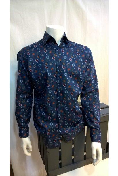 MarVelis Heren Overhemd Met Lange Mouw 7338