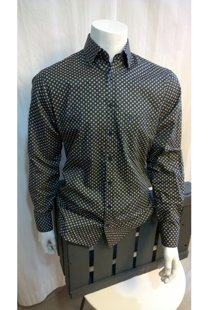 MarVelis Heren Overhemd Met Lange Mouw 6042