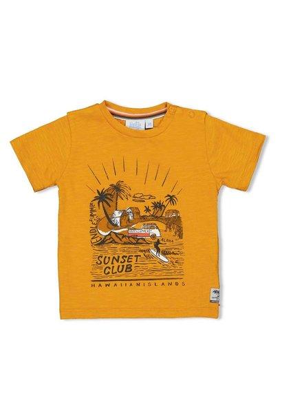 Feetje Jongens Shirtje KM Sunset Club Happy Camper 51700641