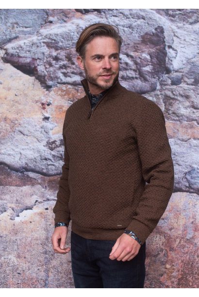 Meantime Heren Pullover Rits 21811