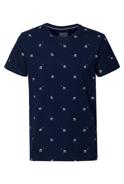 Petrol Heren Shirt KM M-1010-TSR606