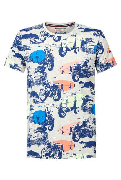 Petrol Heren Shirt KM M-2010-TSR707