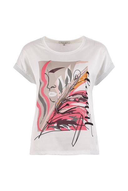 Enjoy Dames Shirt KM Frontprint 151152