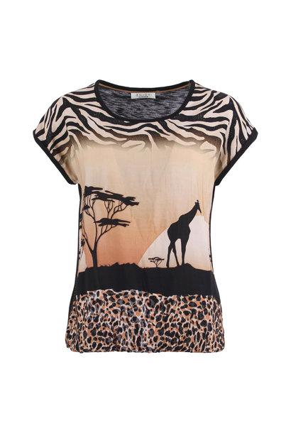 Enjoy Dames Shirt KM Giraffe 183024