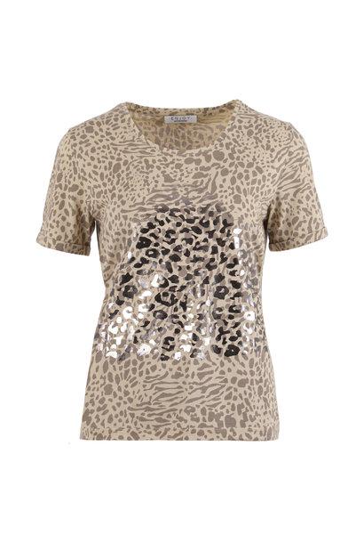 Enjoy Dames Shirt KM Print 183319