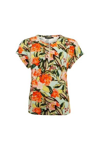 Micha Dames Shirt Bloem print 165-180