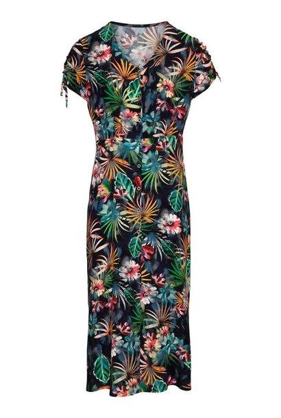 Dreamstar Dames jurk lang JUNGLE Z20 300 Amaryllis