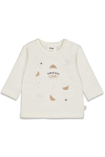 Feetje Meisjes Shirtje LM With Love - Little Croissant 51601716