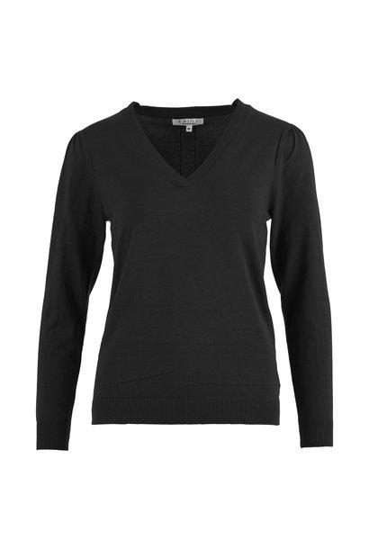 Enjoy Pullover V-hals Lurex Baan 421152