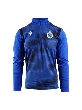 Sweater zip blauw (volw.)