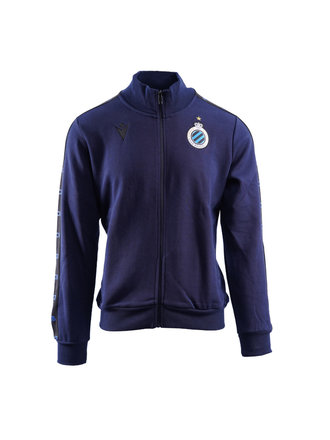 Sweater full zip navy (volw.)