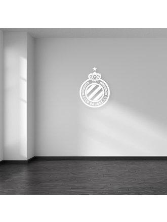 Club Brugge Muursticker Logo Wit