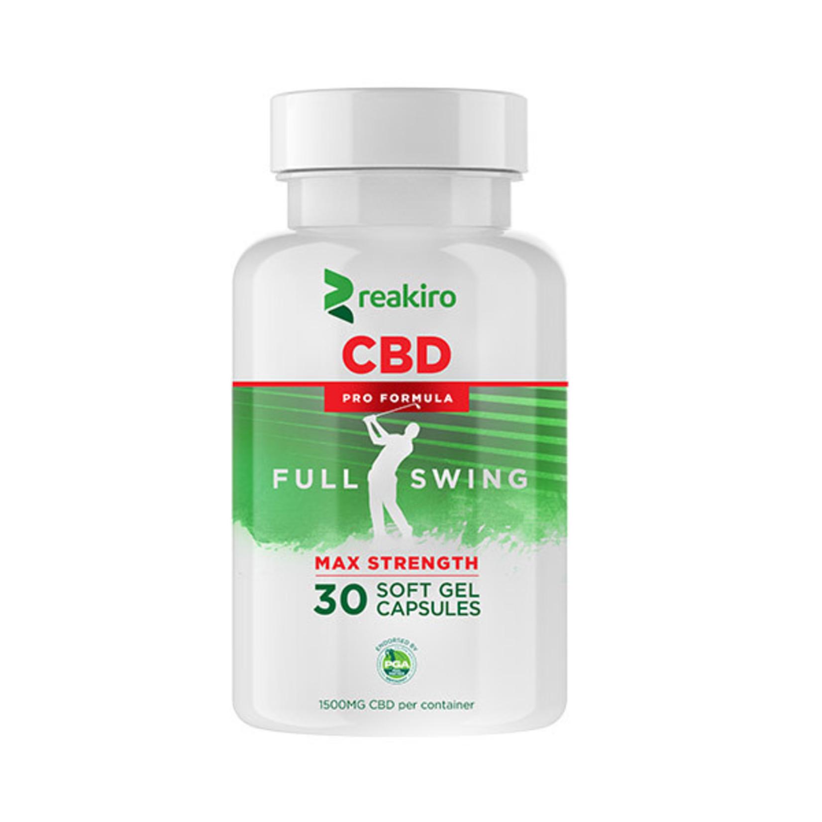 Reakiro CBD Golf Pro Formula Gel Capsules 1500 mg