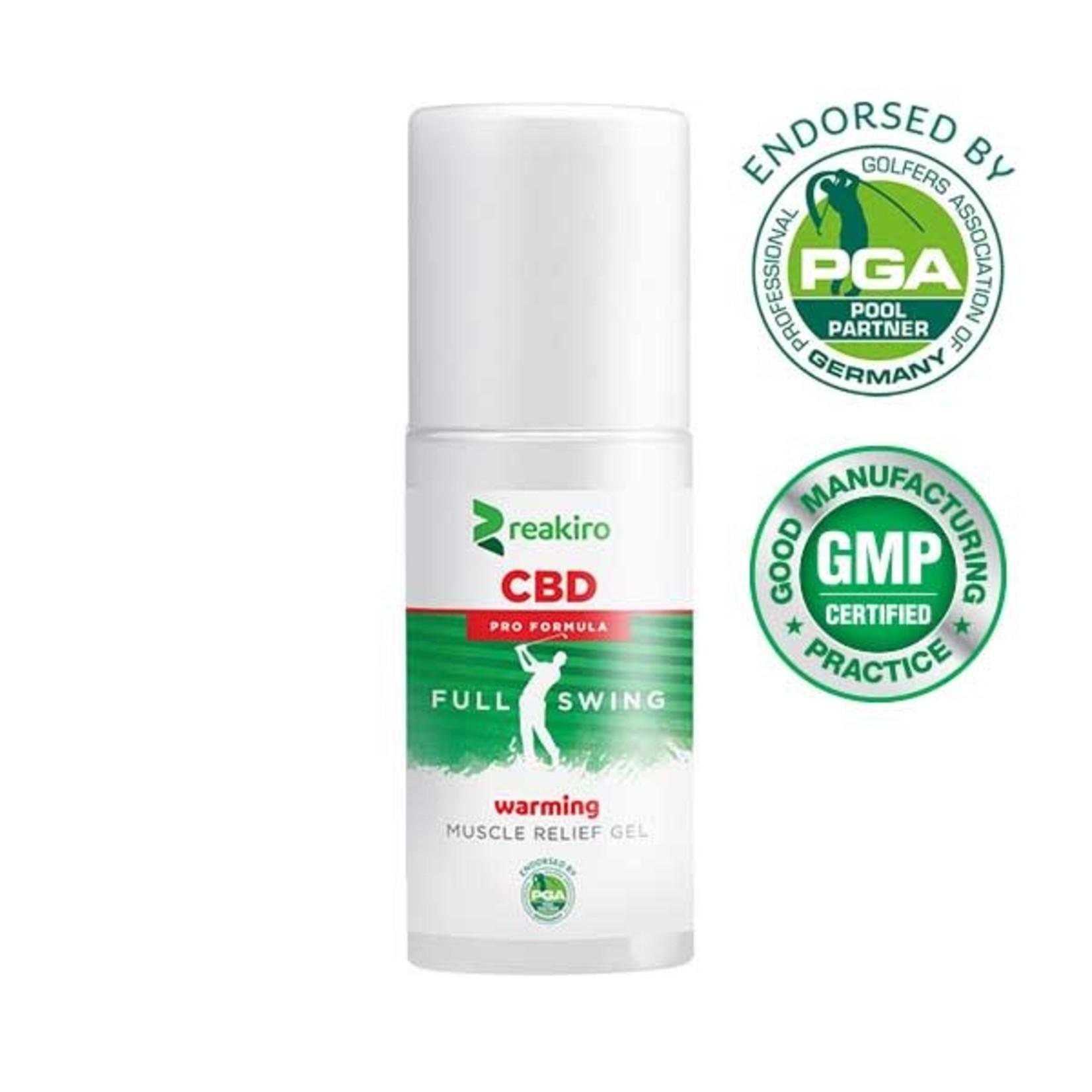 Reakiro CBD Golf Pro Formula Muscle Relief Gel Warming