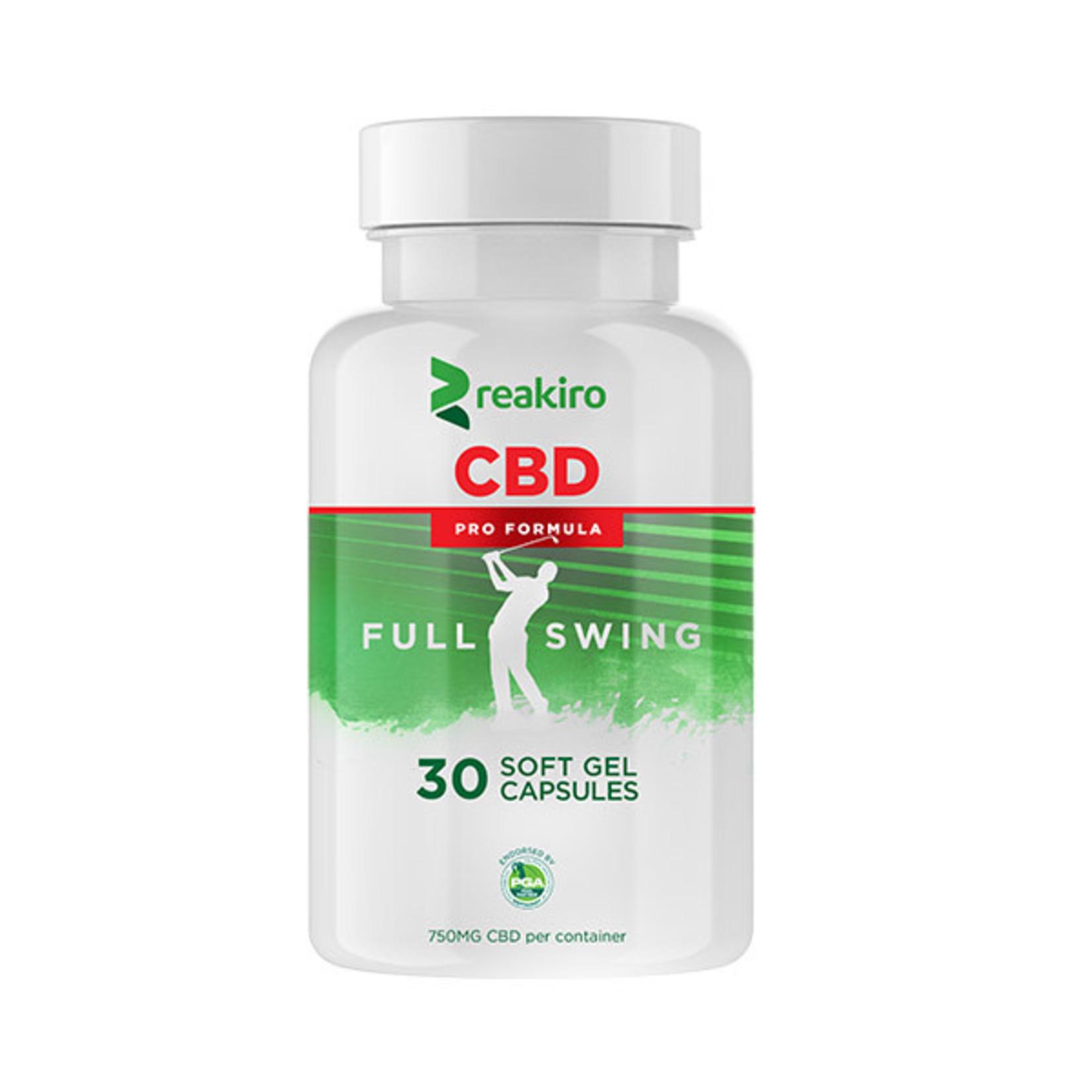 Reakiro CBD Golf Pro Formula Gel Capsules 750 mg