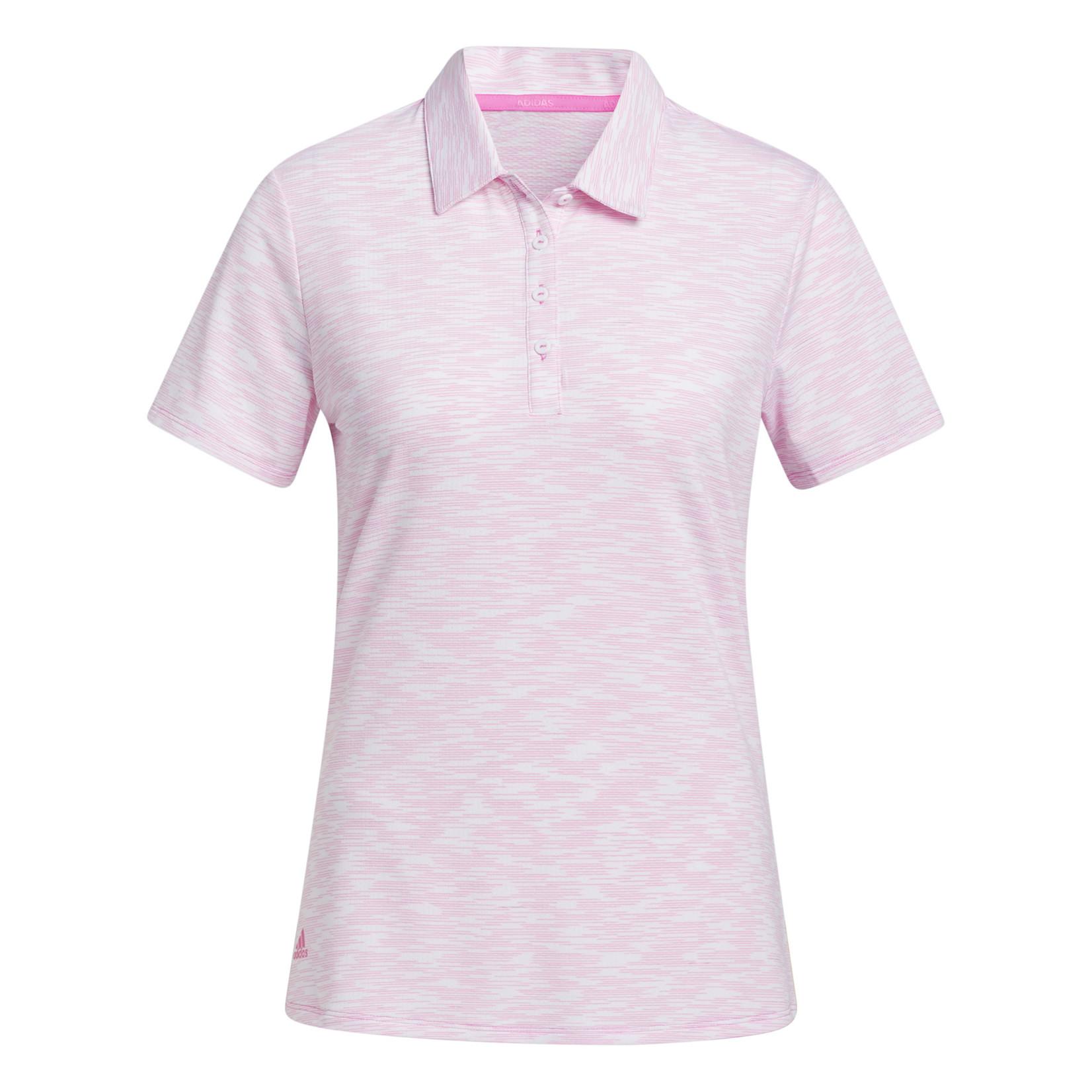 Adidas Adidas W Spacedye Polo - White/Pink