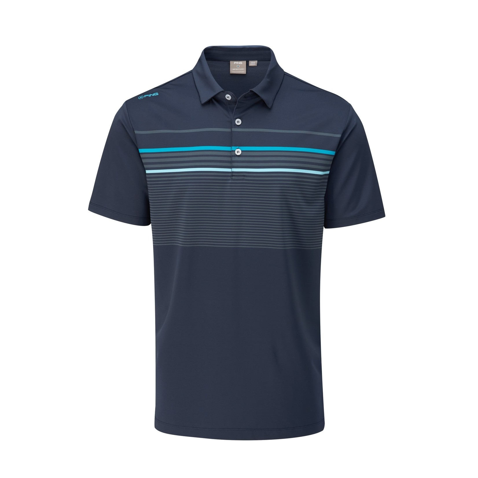 Ping Ping Spencer Polo - Oxford Blue Multi
