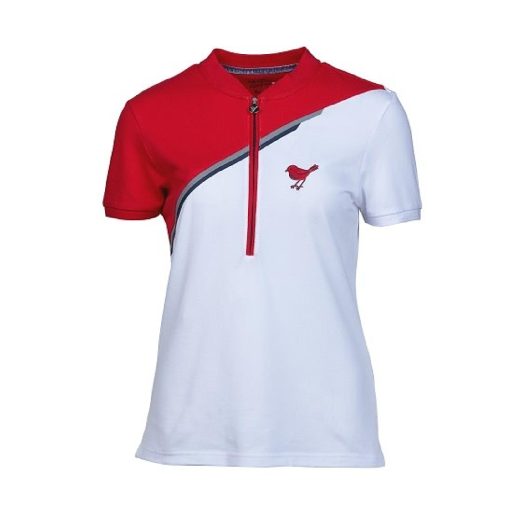 Girls Golf Girls Golf Polo - White/Red Divided