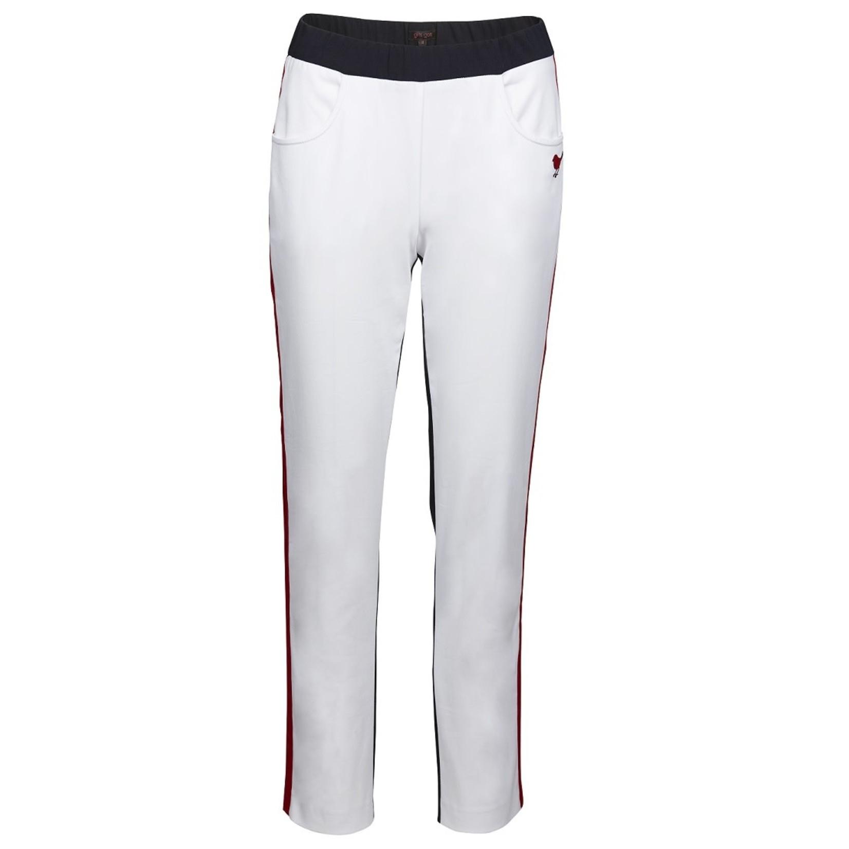 Girls Golf Girls Golf Long Pant - White/Navy/Red