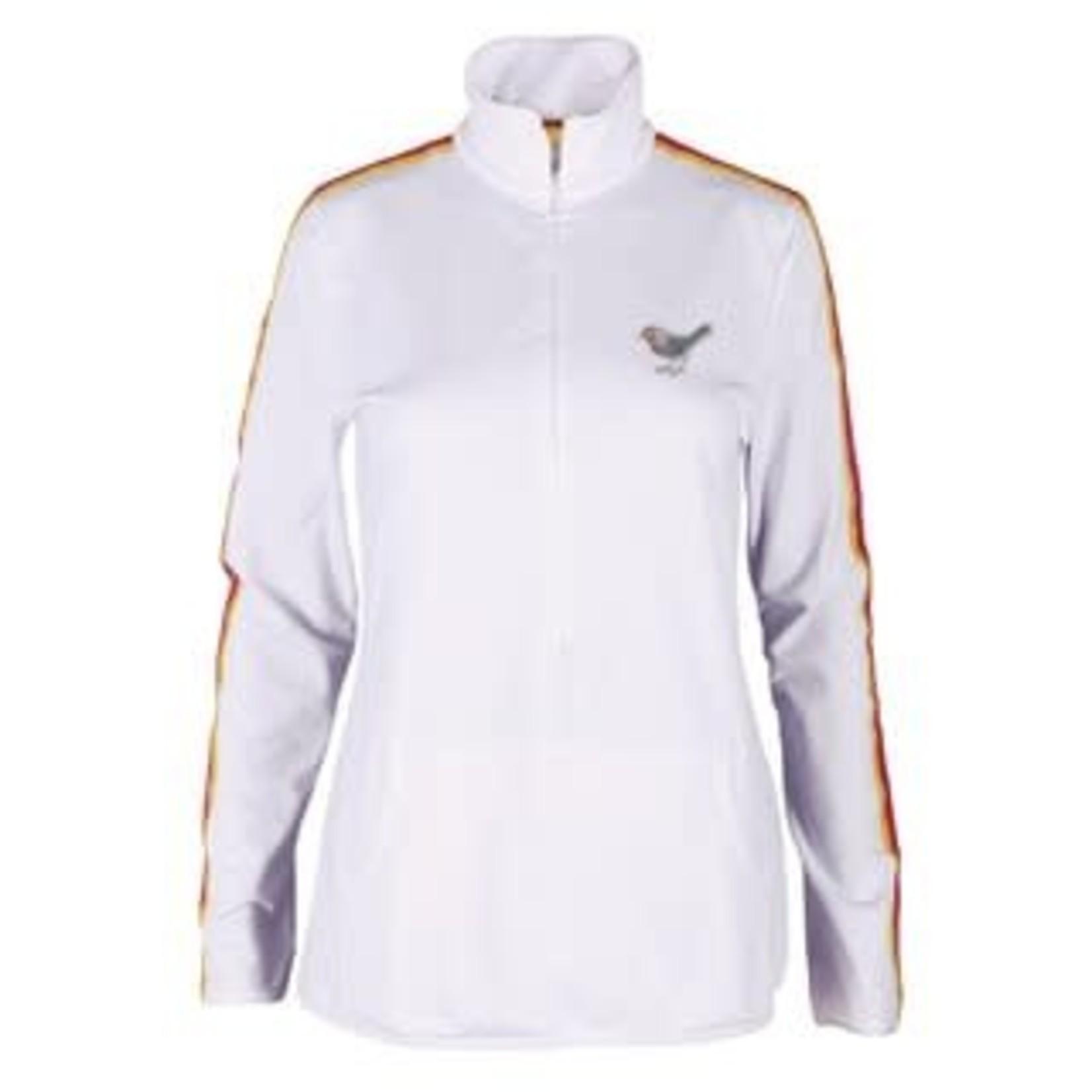 Girls Golf Girls Golf Sweat Techy Multicolored Band Long Zipper White