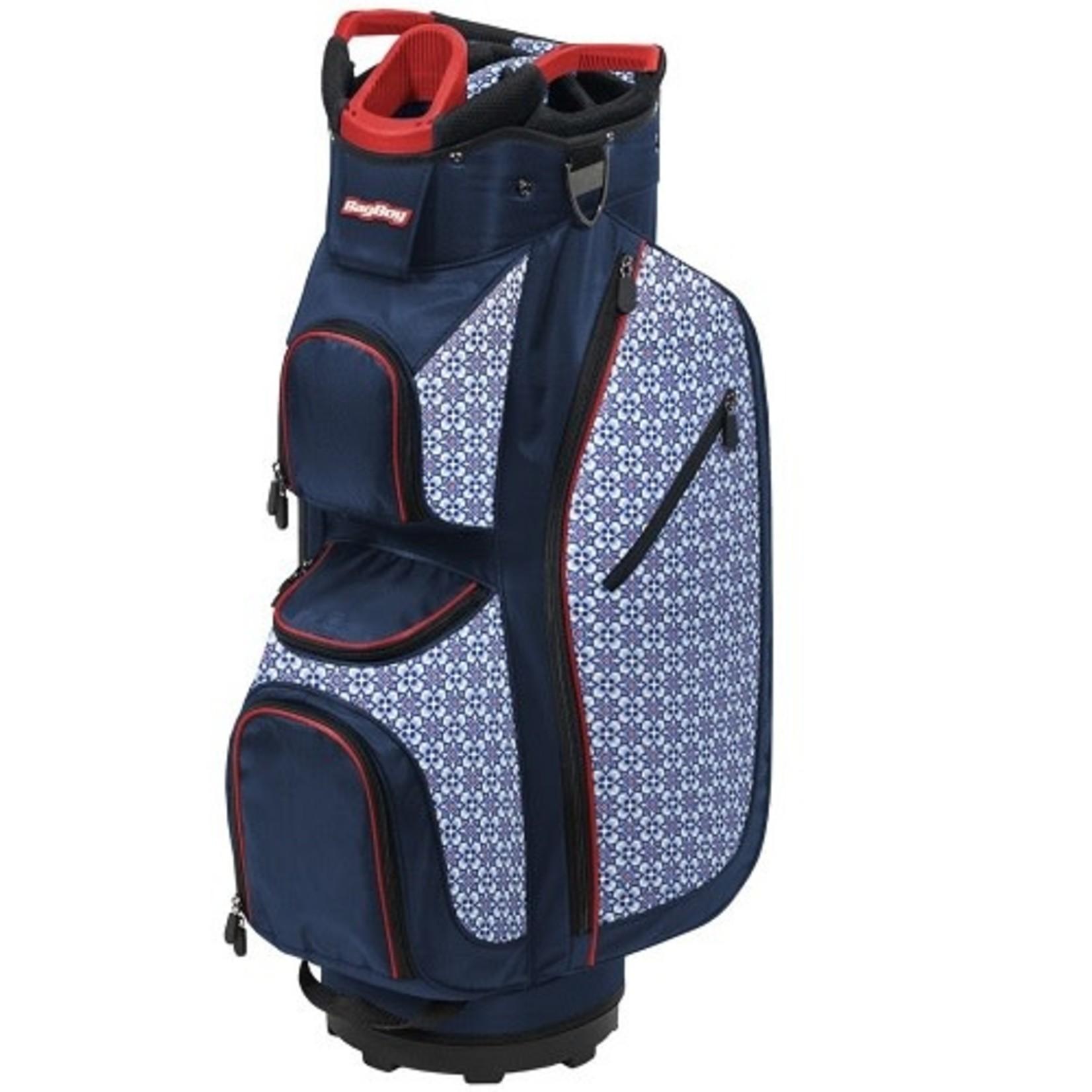 BagBoy Bagboy LDX Plus Cartbag Navy/Red/Blue Tiles