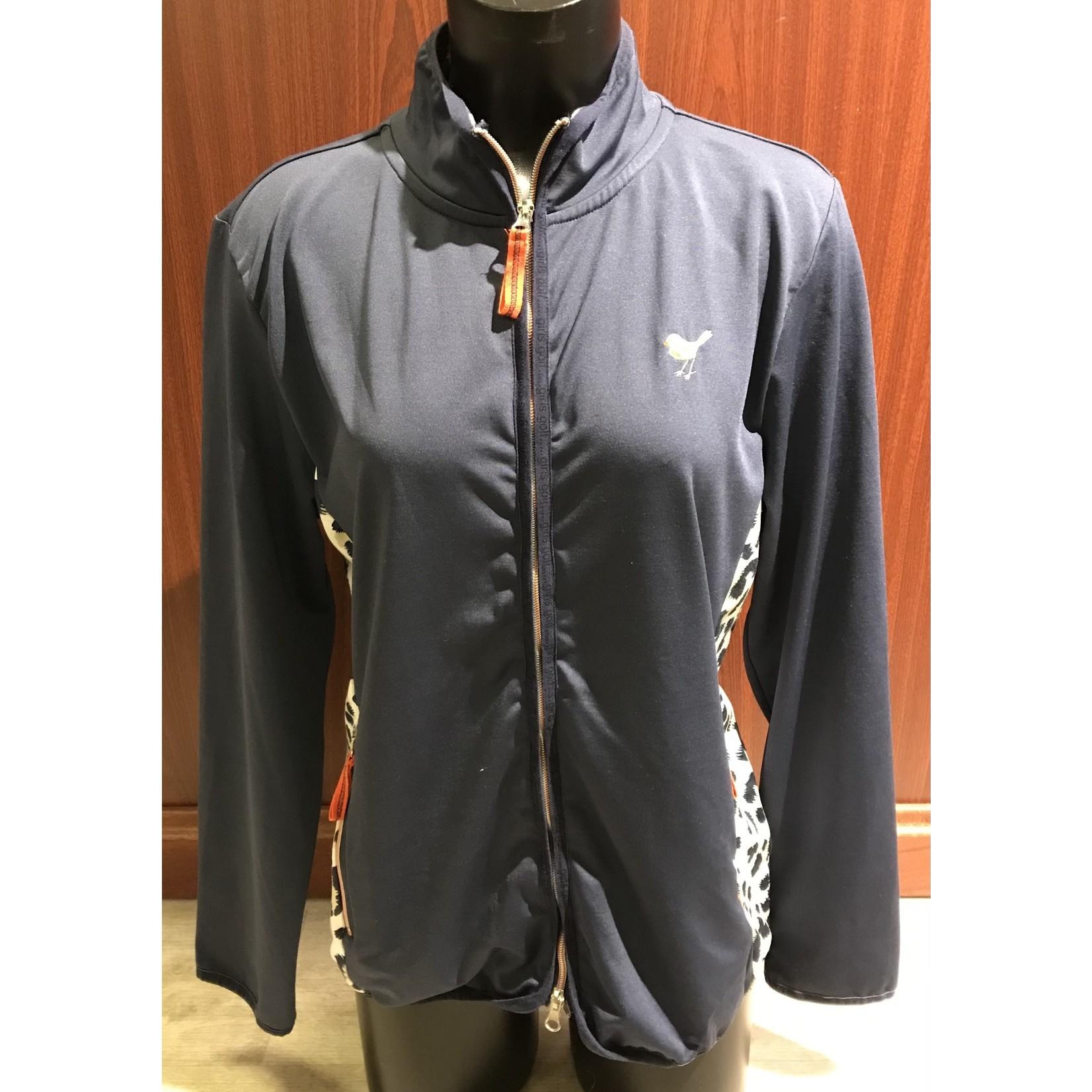 Girls Golf Girls Golf Jacket Blue Leo dark blue XXL