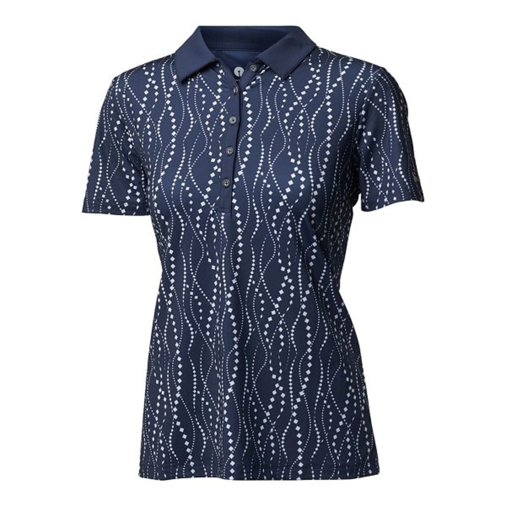 Backtee Backtee Ladies Printed Qd Uv Polo blauw XL