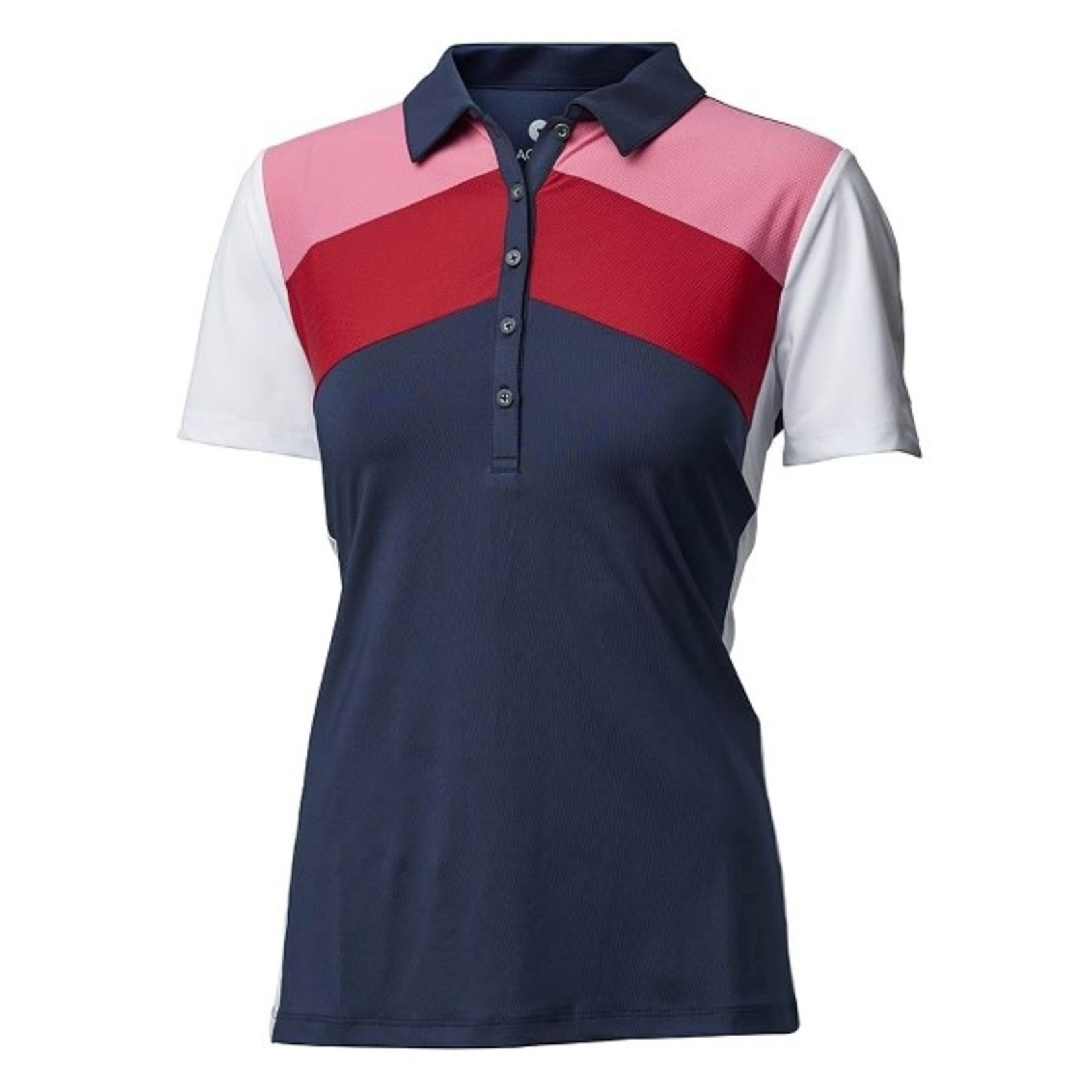 Backtee Backtee Ladies Sports Qd Uv Polo blauw/roze/rood/wit 2XL