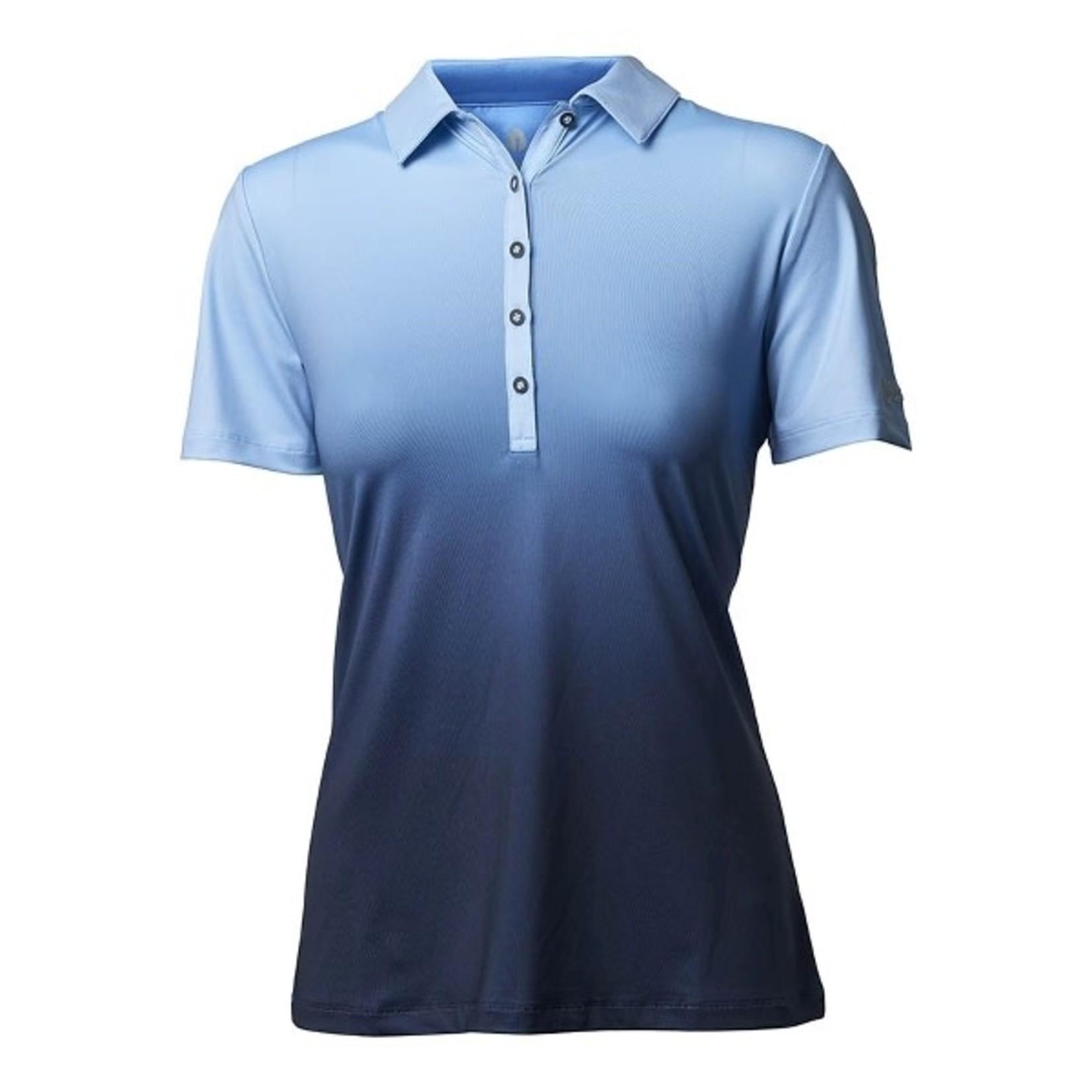 Backtee Backtee Ladies Dip Dye Polo blauw XL