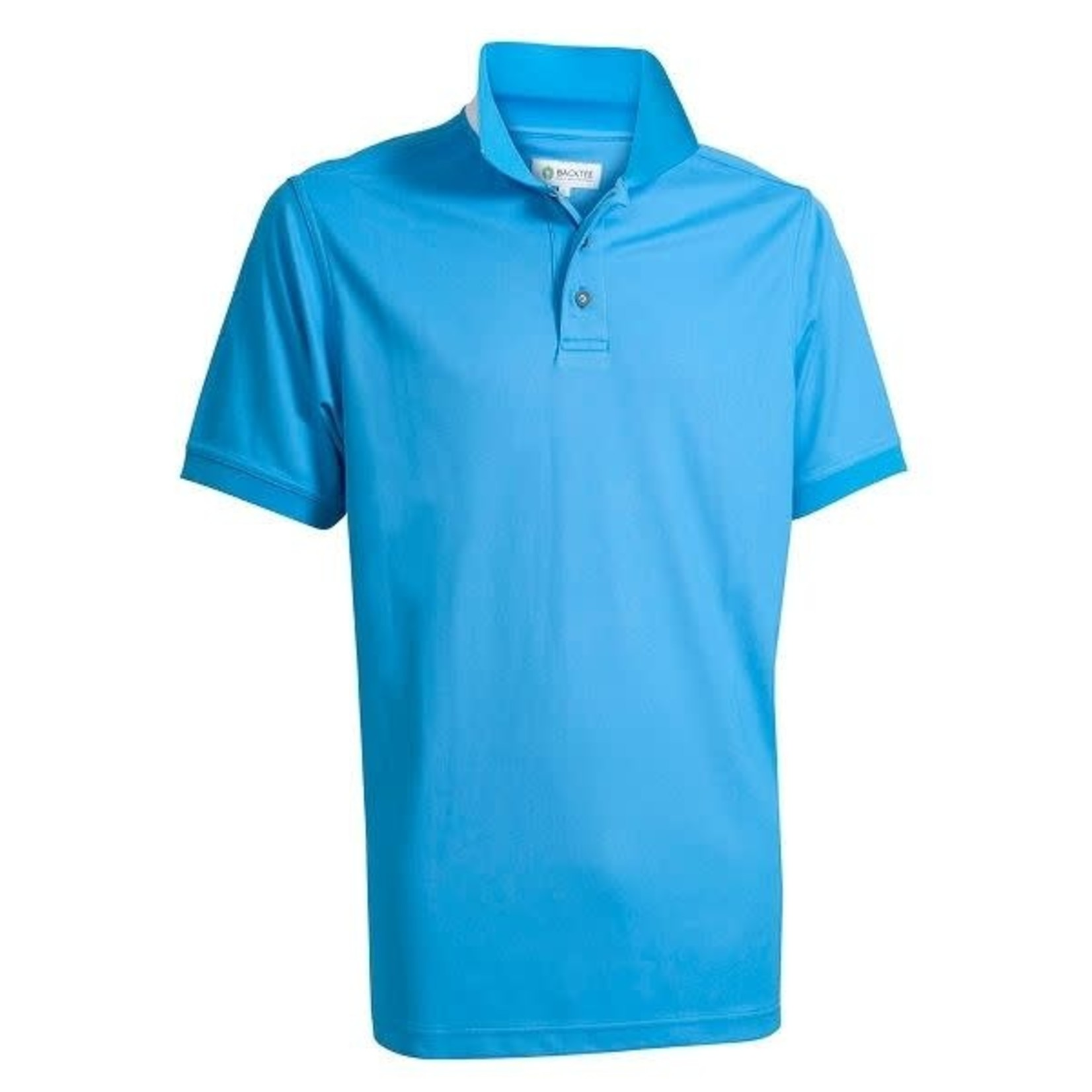 Backtee Backtee Mens Quick Dry Perf. Polo MALIBU BLUE