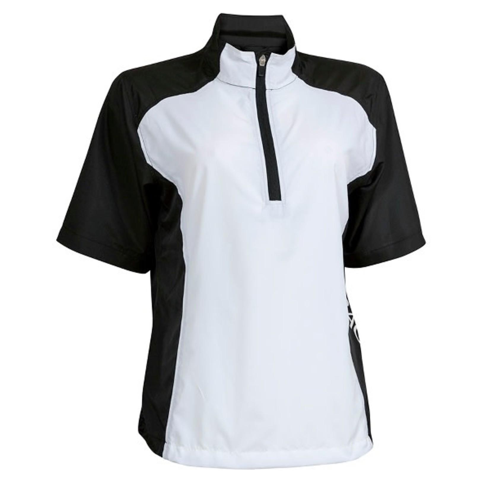 Backtee BackTee Ladies Short Sleeve Windshirt BLACK/WHITE