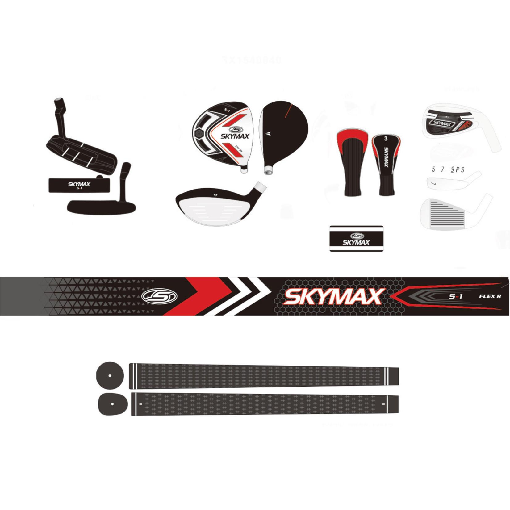 """Skymax Skymax S1 heren +1"""" GRAPHITE complete set - met golftas"""