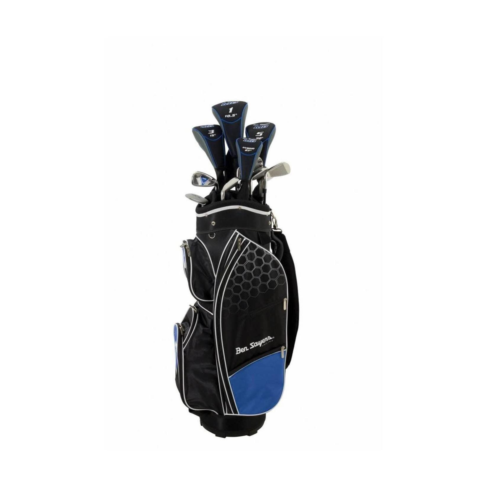Ben Sayers Ben Sayers M8 complete set Black/Blue Cartbag Heren RH graphite