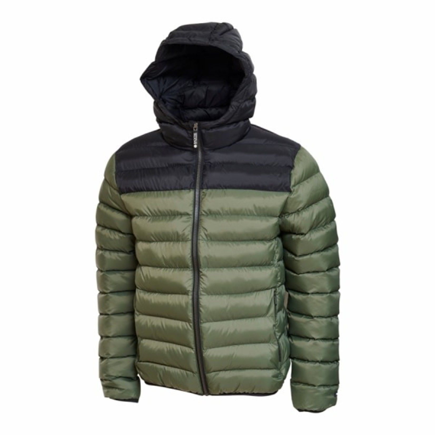 Backtee Backtee Mens Recycled Panel Jacket Beetle (Green)