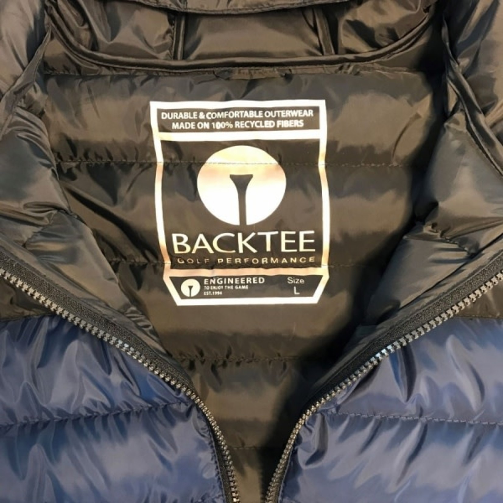 Backtee Backtee Mens Recycled Panel Jacket Navy