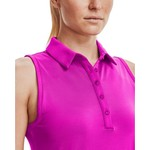 Under Armour Under Armour Zinger Sleeveless Novelty Polo-Meteor Pink